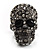 Gun Metal Swarovski Crystal Skull Ring - Size 7 - view 10