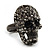 Gun Metal Swarovski Crystal Skull Ring - Size 7 - view 11