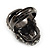 Gun Metal Swarovski Crystal Skull Ring - Size 7 - view 5
