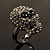 Gun Metal Swarovski Crystal Skull Ring - Size 7 - view 16