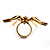Gold Black Enamel Swarovski Crystal Spider Cocktail Ring - Size 7 - view 23