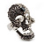 Dazzling Crystal Skull Cocktail Ring - Adjustable - view 10