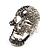 Dazzling Crystal Skull Cocktail Ring - Adjustable - view 6