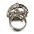 Dazzling Crystal Skull Cocktail Ring - Adjustable - view 11