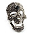 Dazzling Crystal Skull Cocktail Ring - Adjustable - view 1