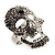 Dazzling Crystal Skull Cocktail Ring - Adjustable - view 4