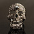 Dazzling Crystal Skull Cocktail Ring - Adjustable - view 5