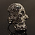 Dazzling Crystal Skull Cocktail Ring - Adjustable - view 16