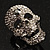 Dazzling Crystal Skull Cocktail Ring - Adjustable - view 7