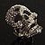 Dazzling Crystal Skull Cocktail Ring - Adjustable - view 3