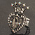 Burn Silver Crystal Crown & Heart Stretch Ring - view 4