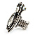 Burn Silver Crystal Crown & Heart Stretch Ring - view 3