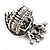Burn Silver Crystal Crown & Heart Stretch Ring - view 11