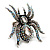 Oversized Clear Crystal Spider Stretch Cocktail Ring (Silver Tone) - view 15