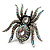 Oversized Clear Crystal Spider Stretch Cocktail Ring (Silver Tone) - view 16