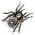 Oversized Clear Crystal Spider Stretch Cocktail Ring (Silver Tone) - view 17