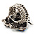 Burn Silver Purple Diamante Cat & Mouse Stretch Ring - view 13