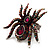 Oversized Multicoloured Crystal Spider Stretch Cocktail Ring (Silver Tone) - view 8