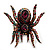 Oversized Multicoloured Crystal Spider Stretch Cocktail Ring (Silver Tone) - view 10