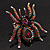 Oversized Multicoloured Crystal Spider Stretch Cocktail Ring (Silver Tone) - view 5