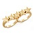 Gold Plated Double Finger 'Five Star' Ring - Size 7&8 - view 8