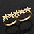 Gold Plated Double Finger 'Five Star' Ring - Size 7&8 - view 3