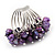 Wide Chunky Purple Freshwater Pearl Ring (Silver Plated Metal) - view 5