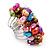 Wide Chunky Multicoloured Freshwater Pearl Ring (Silver Plated Metal) - view 4