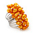 Wide Chunky Orange Freshwater Pearl Ring (Silver Plated Metal) - view 4