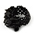 Black Semiprecious Chip Cluster Flex Ring - view 3