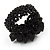 Black Semiprecious Chip Cluster Flex Ring - view 4