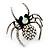 Stunning AB Crystal Spider Cocktail Ring in Burnt Silver Plating - view 4