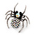 Stunning AB Crystal Spider Cocktail Ring in Burnt Silver Plating - view 5