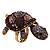 Large Purple Crystal Turtle Ring In Burn Gold Metal - Adjustable - view 8