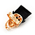 Gold Plated 'Black Hat Skull' Ring - Adjustable (Size 7/8) - 4cm Length - view 4