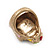 Vintage Textured Mulicoloured 'Skull' Ring In Matte Gold Metal - view 8