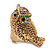 Vintage Chunky Textured &#039;Owl&#039; Ring In Antique Gold Metal (heavy) - view 8