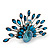 Stunning Turquoise Coloured Swarovski Crystal 'Peacock' Flex Ring In Silver Metal - 7.5cm Length (Size 7/8) - view 6
