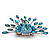 Stunning Turquoise Coloured Swarovski Crystal 'Peacock' Flex Ring In Silver Metal - 7.5cm Length (Size 7/8) - view 5
