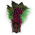 Oversized Green/Magenta/Red Feather 'Indian Skull' Stretch Ring In Silver Plating - Adjustable - 12cm Length - view 9