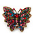 Madame Butterfly Statement Stretch Burn Gold Ring (Multicoloured) - Adjustable size 7/8 - view 2