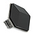 Large Black Acrylic Geometric Flex Ring In Gun Metal - 45mm Across - Size 7/8