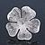 Large Ethnic Textured 'Flower' Ring In Burn Silver Metal - 40mm Diameter - Adjustable - Size 7/8