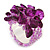 Amethyst/ Pink Semiprecious Chip Cluster Flex Ring