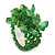 Apple Green Semiprecious Chip Cluster Flex Ring