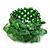 Apple Green Semiprecious Chip Cluster Flex Ring - view 3
