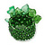 Apple Green Semiprecious Chip Cluster Flex Ring - view 4