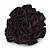 Black Silk & Glass Bead Floral Flex Ring - 40mm Diameter - view 3