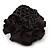 Black Silk & Glass Bead Floral Flex Ring - 40mm Diameter - view 5