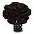 Black Silk & Glass Bead Floral Flex Ring - 40mm Diameter - view 6